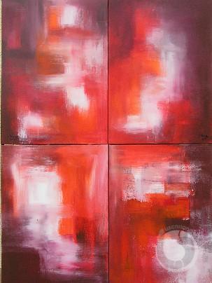 Quatre images rouges