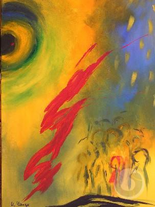 abstraktes Bild von Uschi Lange: Titel: Rot