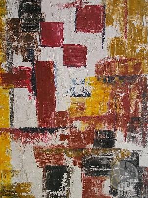 Komposition mit Rot 1
