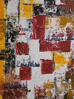 Komposition mit Rot 2