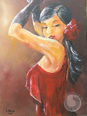 Die Flamenco - Tänzerin